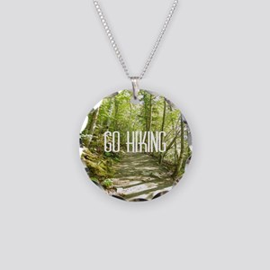 Go Hiking Necklace Circle Charm