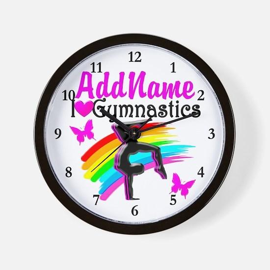 NUMBER 1 GYMNAST Wall Clock