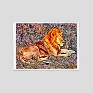 Lion, altered Image 5'x7'Area Rug