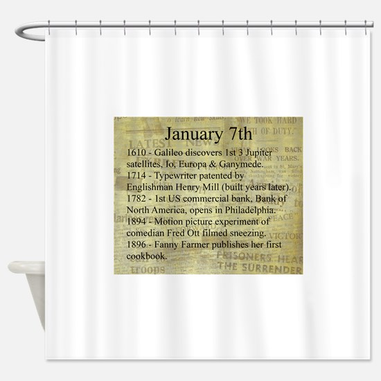 January 7th Shower Curtain