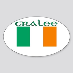 Tralee, Ireland Flag Oval Sticker
