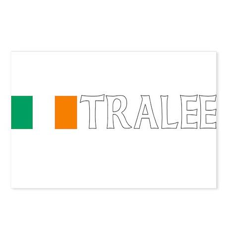 Tralee, Ireland Flag (Dark) Postcards (Package of