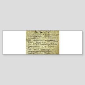 January 4th Bumper Sticker