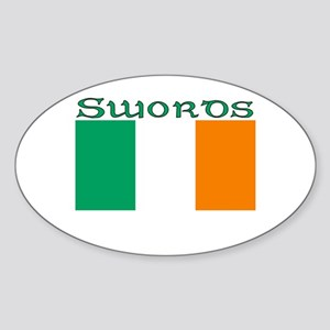 Swords, Ireland Flag Oval Sticker