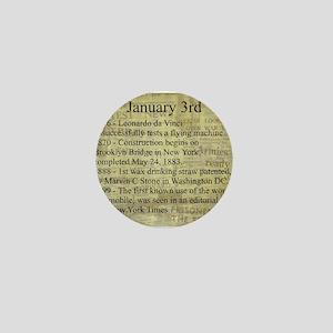 January 3rd Mini Button