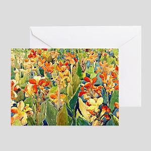 Prendergast - Bed of Flowers Greeting Card