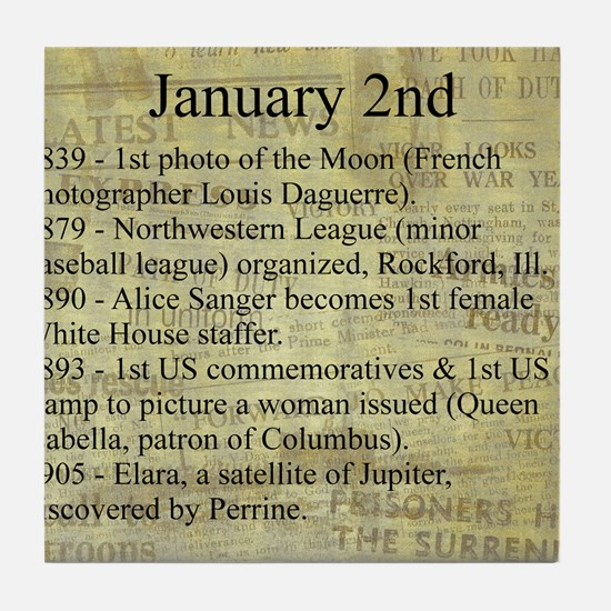 January 2nd Tile Coaster