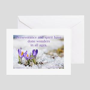 """""""Perseverance & Spirit"""" Greeting Card"""