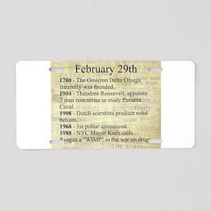February 29th Aluminum License Plate