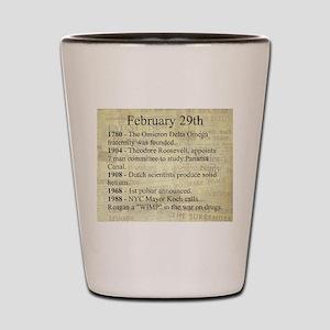 February 29th Shot Glass