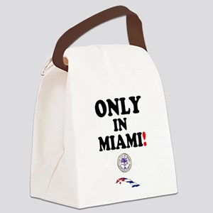 ONLY IN MIAMI - CUBA Canvas Lunch Bag