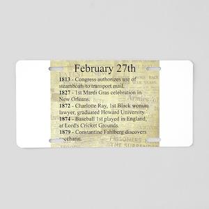 February 27th Aluminum License Plate