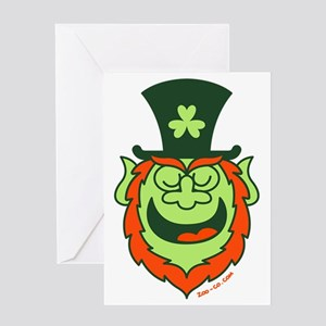 St Paddy's Day Leprechaun Speaking Greeting Card