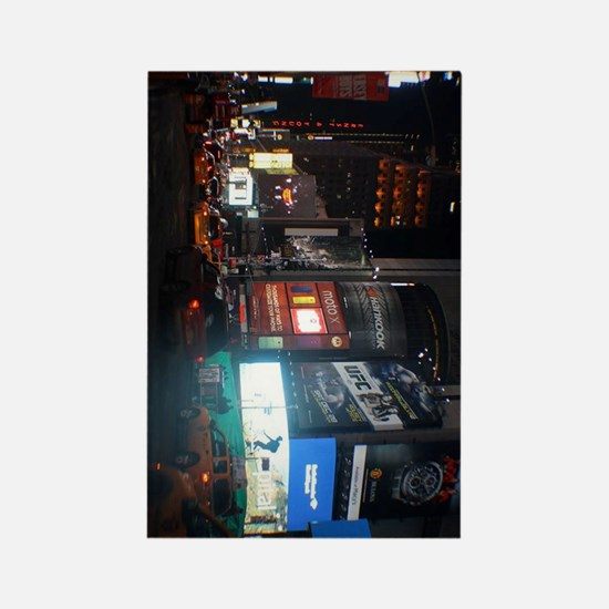 New york broadway at night Rectangle Magnet