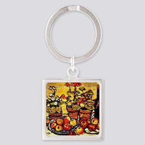 Prendergast - Still Life Fruit and Square Keychain