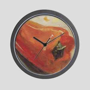 Red Pepper Chili Kitchen Recipe Wall Clock
