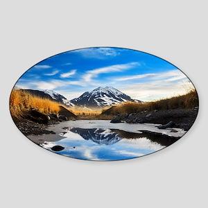Ricky's Mountain Sticker (Oval)