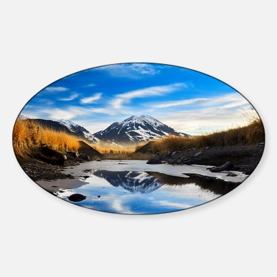 Ricky's Mountain Sticker (Oval)