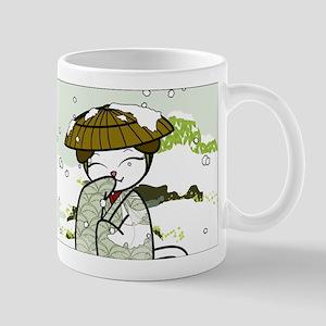 Winter Geisha Kitty Mugs