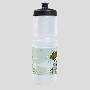 Winter Geisha Kitty Sports Sports Bottle