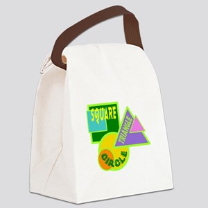 Circle-Square-Triangle Canvas Lunch Bag