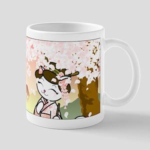 Cherry Blossom Geisha Kitty Mug