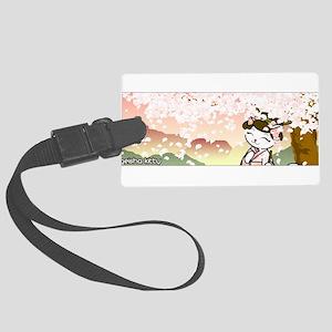 Cherry Blossom Geisha Kitty Luggage Tag
