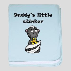 Daddys Little Stinker baby blanket