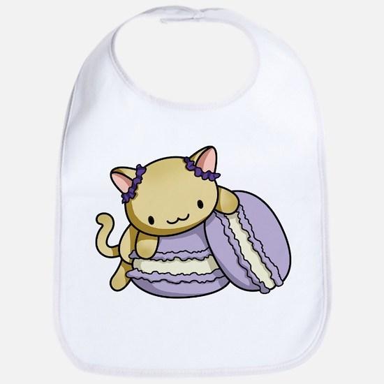 Macaron Kitty Bib