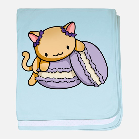 Macaron Kitty baby blanket