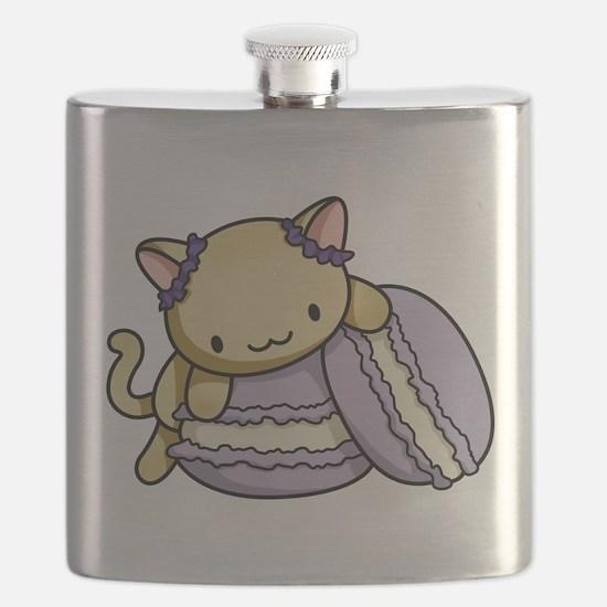 Macaron Kitty Flask