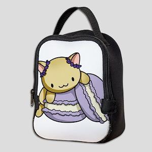 Macaron Kitty Neoprene Lunch Bag