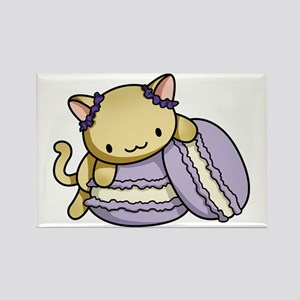 Macaron Kitty Rectangle Magnet