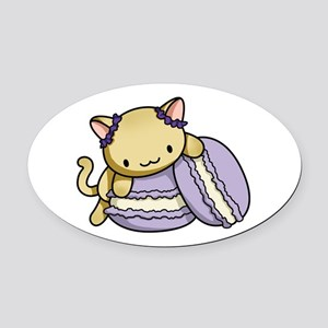 Macaron Kitty Oval Oval Car Magnet