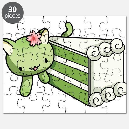 Gateau Matcha Kitty Puzzle