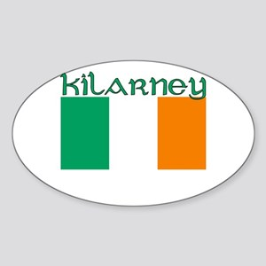 Kilarney, Ireland Flag Oval Sticker