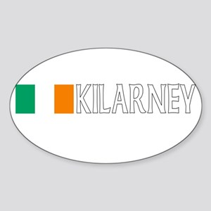 Kilarney, Ireland Flag (Dark) Oval Sticker