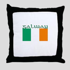 Galway, Ireland Flag Throw Pillow