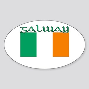 Galway, Ireland Flag Oval Sticker