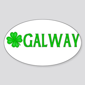 Galway, Ireland Oval Sticker
