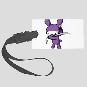 Ninja Bunny Luggage Tag