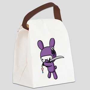 Ninja Bunny Canvas Lunch Bag