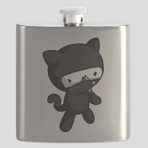 Ninja Kitty Flask