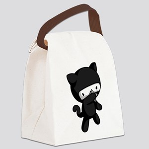 Ninja Kitty Canvas Lunch Bag