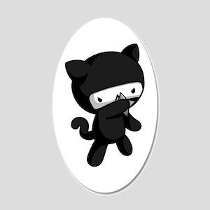 Ninja Kitty Wall Decal