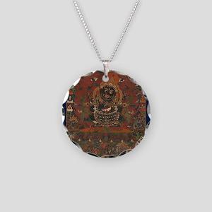 Mahakala Necklace Circle Charm
