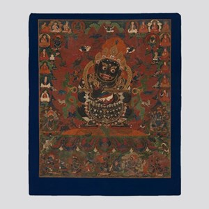 Mahakala Throw Blanket