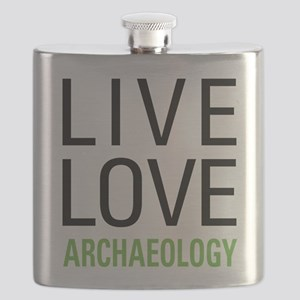 Live Love Archaeology Flask