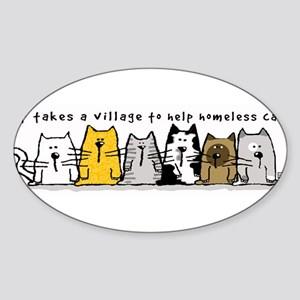 Takes A Village Help Cats Sticker