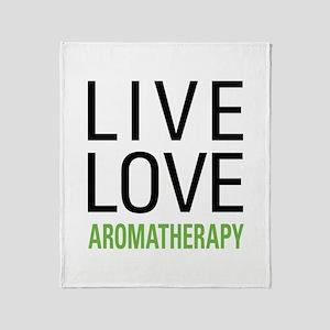 Live Love Aromatherapy Throw Blanket